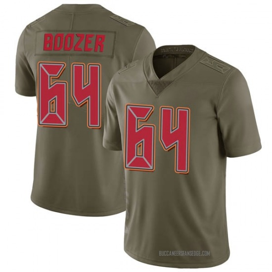 Cole Boozer Tampa Bay Buccaneers No.64 Limited 2017 Salute to Service Jersey - Green