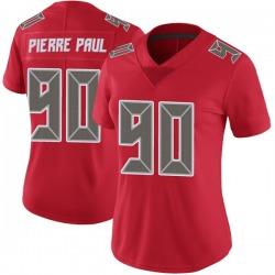 Jason Pierre-Paul Tampa Bay Buccaneers No.90 Limited Color Rush Jersey - Red