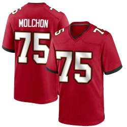 John Molchon Tampa Bay Buccaneers No.75 Game Team Color Jersey - Red