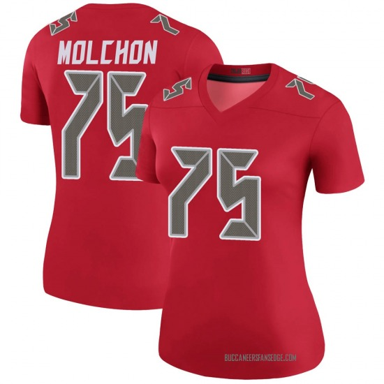 John Molchon Tampa Bay Buccaneers No.75 Legend Color Rush Jersey - Red