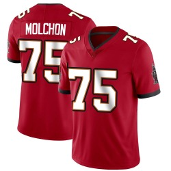John Molchon Tampa Bay Buccaneers No.75 Limited Team Color Vapor Untouchable Jersey - Red