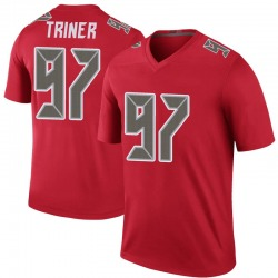 Zach Triner Tampa Bay Buccaneers No.97 Legend Color Rush Jersey - Red